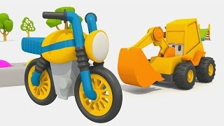 Cartoni animati per bambini - L'escavatore Max - Come si fa un motorino?