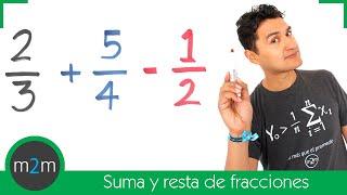 getlinkyoutube.com-Suma y resta de fracciones con diferente denominador │ MCM