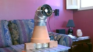 getlinkyoutube.com-Candle Powered Heater! (Improved!!) - DIY Radiant Space Heater! (w/fan!) - Clay Pot Heater!