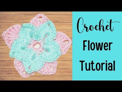 Crochet Layered Flower Tutorial