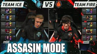 getlinkyoutube.com-Team Ice vs Team Fire | Assasin Mode Match LoL All-Stars 2015 LA | Ice vs Fire Assasins All Star