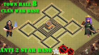 getlinkyoutube.com-Anti 2 star | Diseño de TH 8 | Clan War base #5