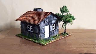 getlinkyoutube.com-Maquete Casa de Pedra / Maquette Stone House / Casa De Piedra