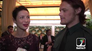 getlinkyoutube.com-Outlander stars show up at BAFTA Tea Party held in Beverly Hills
