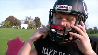 getlinkyoutube.com-Football Player Gives Up Touchdown So Teammate Can Score