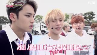 getlinkyoutube.com-[Vietsub][151010] Monsta X vs Seventeen @ Show Champion backstage