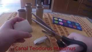 getlinkyoutube.com-Manualidades con rollos de papel higiénico fáciles y baratas