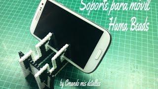 getlinkyoutube.com-Base Trípode para smartphone en Hama Beads (perler beads)