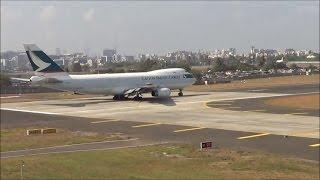 getlinkyoutube.com-Cathay Pacific Cargo & Kuwait Airways Boeing 747 Back 2 Back takeoff from Mumbai Airport.
