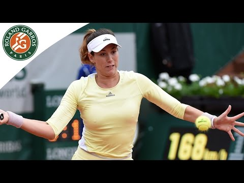 Muguruza v Rogers Roland-Garros 2016 Women`s Highlights / 1/4