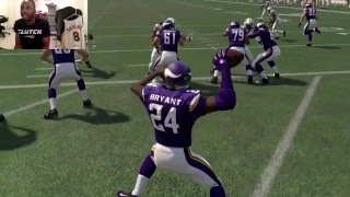 getlinkyoutube.com-Can Kobe Bryant Do a 99yd Quarterback Scramble and Take it to the House!? Funny Madden 16 Gameplay