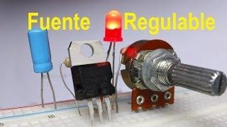 ✅ Fuente Regulada de voltaje variable (LM317) Variar velocidad Motor