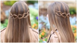 getlinkyoutube.com-Loop Waterfall Braid | Cute Hairstyles