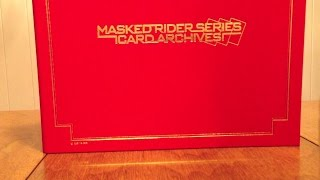 kamen rider series card archives binder ver. 2 review
