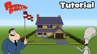 "Minecraft Tutorial: How To Make the American Dad House! ""American Dad"""