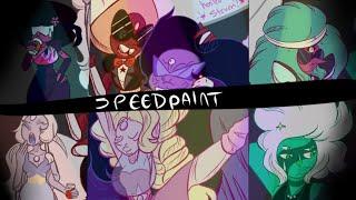 getlinkyoutube.com-Steven Universe [SPEEDPAINT] Awkward Fusion Party