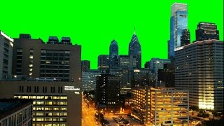 getlinkyoutube.com-Real City (Philadelphia) Time Lapse 1080p - Green Screen