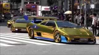 getlinkyoutube.com-ゴールドのスポーツカーが渋谷を疾走?