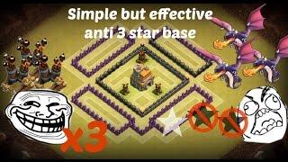 getlinkyoutube.com-Th7 war base/3 air defense/Anti 2 star/CoC