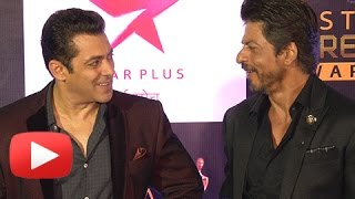 getlinkyoutube.com-VIDEO Salman Khan And Shahrukh Khan Discuss Their Friendship On Star Screen Awards 2016 RED CARPET