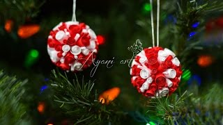 getlinkyoutube.com-Quilling Tutorial - Super Easy DIY Christmas Ball Ornaments