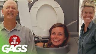 getlinkyoutube.com-Best Public Toilet Pranks - Best of Just for Laughs Gags