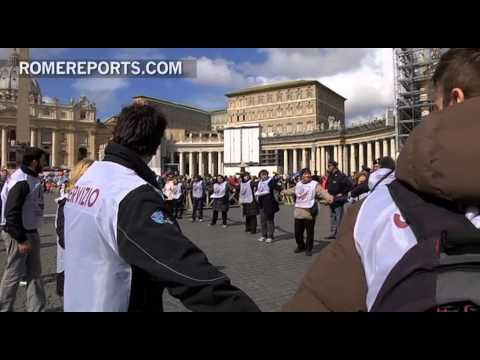 Hundreds of volunteers helped at the Pope�s First Mass in St  Peter�s Square