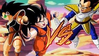 getlinkyoutube.com-Goku and Raditz VS Vegeta