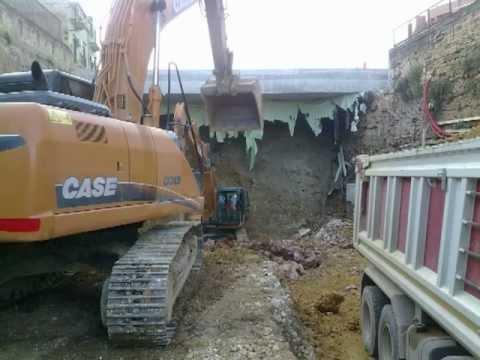 video escavatori    metropolitana di palermo
