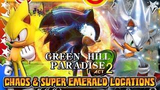 getlinkyoutube.com-Green Hill Paradise Act 2 - Hyper Sonic & All Chaos/Super Emerald Locations