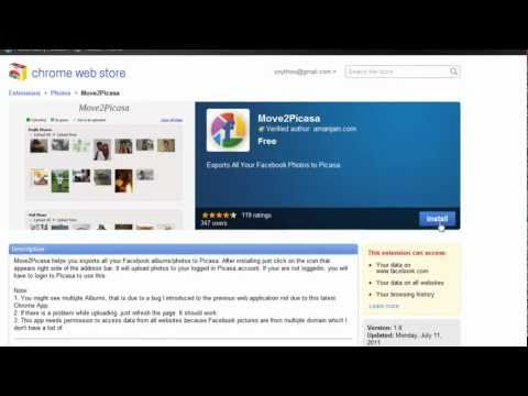 Move2Picasa Google Chrome Extension Tutorial