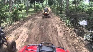 getlinkyoutube.com-Trilha de Quadriciclo - Percurso de 210km / Honda Rancher 420 trail