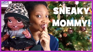 getlinkyoutube.com-What Sneaky DIY Moms Do for Christmas Gifts | New Baby Alive & American Girl Doll Clothes | Ep.25