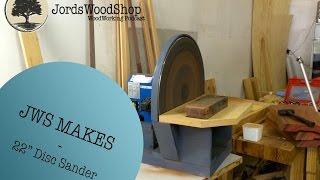 """getlinkyoutube.com-JWS Makes: Homemade 22"""" Disc Sander"""