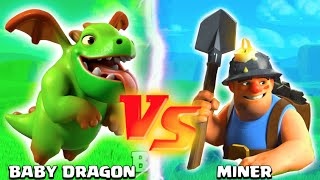 getlinkyoutube.com-MINER VS BABY DRAGON! - Clash of Clans - Which New Update Troop is Better? TROOP CHALLENGE!