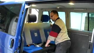 VW T4 Multivan II Sitzbank alleine ausbauen
