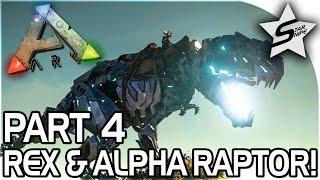 getlinkyoutube.com-REX ATTACK, ALPHA RAPTOR SPOTTED!! - ARK Survival Evolved PS4 PRO GAMEPLAY Part 4