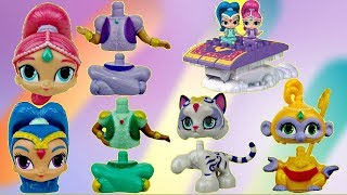 getlinkyoutube.com-Nick Jr. SHIMMER AND SHINE Megabloks Magic Carpet Building Set Lego, Nahal Tala Toy SURPRISE / TUYC