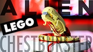 getlinkyoutube.com-ARVO BROTHERS Lego Alien Chestburster - Time Lapse / Review