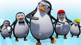 Five Little Penguins | 3D Animation Rhymes & Baby Songs | Nursery Rhymes For Childrens In English
