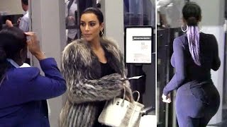 getlinkyoutube.com-Kim Kardashian's Big Butt Is Cleared For Takeoff At LAX