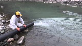 ニジマス放流の様子-天竜川漁協20111105.m2ts