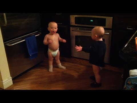 twin baby boys have a conversation - part 1