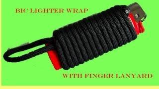 getlinkyoutube.com-Bic Lighter Wrap with Finger Lanyard