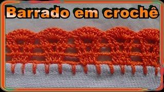 getlinkyoutube.com-Bico em crochê para pano de prato toalha de rosto modelo 26