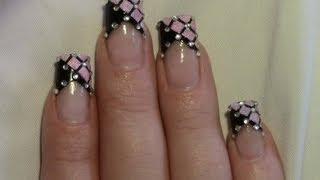 getlinkyoutube.com-Rosa Glitter Strass Party Nail Art Design Tutorial / Nageldesign selber machen / Nägel lackieren