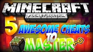 getlinkyoutube.com-MCPE TOP 5 CHEATS! - Incredibly Easy Cheats to Master for Minecraft PE! | Minecraft Pocket Edition