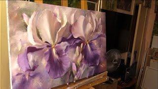 getlinkyoutube.com-Небольшой урок живописи маслом. Ирисы. Alla Prima Oil Painting