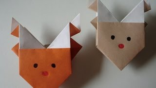 "getlinkyoutube.com-【X'mas ver.】折り紙 トナカイの折り方 How to Origami ""Reindeer"""