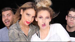 Not My Hands Makeup Challenge ♡LUSTRELUX/ DESI PERKINS COLLAB width=